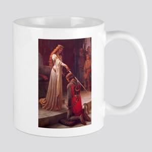 Knight and His Queen Victorian art Mug